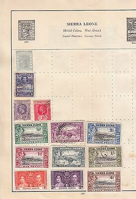 Sierra Leone Page Values From Early Centurion Album Unchecked Or Catalouged