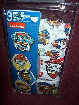 Toddler Boys PAW PATROL Underwear Briefs - Size 4T - THREE Pairs  NEW  NWT
