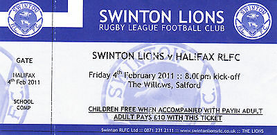 Ticket - Swinton v Halifax 04.02.11