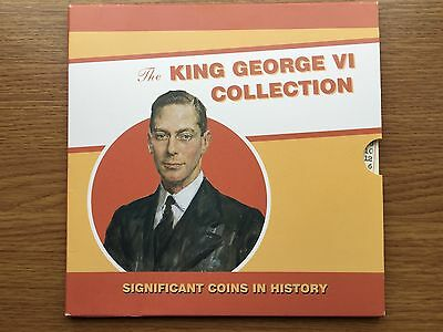 1937 to 1948 King George VI Coin Collection 10 Coins English History in a Folder