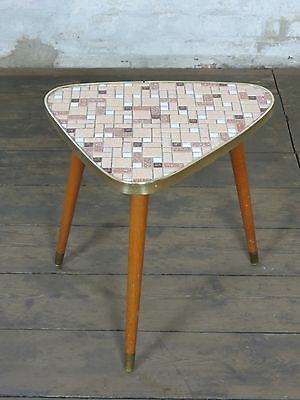 alter Retro Mid Century Nierentisch Blumenhocker Hocker Stool Vintage Table 50er