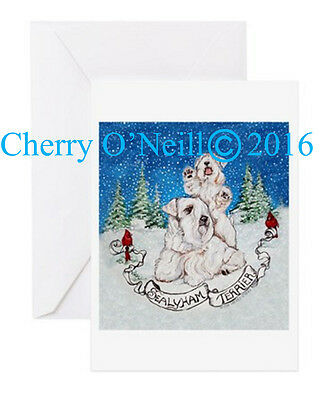 SealyhamTerrier Christmas Greeting Card Set of 10 Sealy Holiday