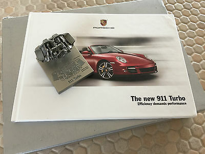 Porsche Official 911 Turbo Boxed Hardbound Brochure With Engine Model 2010 Rare