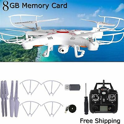 Camera 6-Axis Gyro RC UAV RTF Quadcopter 8GB X5C  2.4Ghz  Drone UFO with Camera