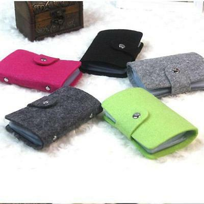Women Lady Pouch ID Credit Card Wallet Holders Organizer Cases Pockets 5Color S*