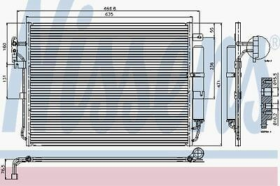 New Oe Quality Nissens Range Rover/land Rover Disc. - Ac Condenser - 94962