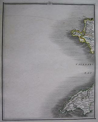 WALES  ANGLESEA CAERNARVONSHIRE HOLYHEAD BY JOHN CARY GENUINE ANTIQUE MAP  c1824