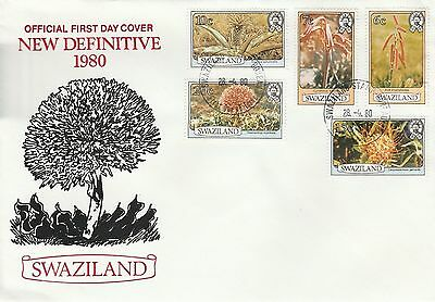 Swaziland 1980 Flowers SG 345A - 349A FDC