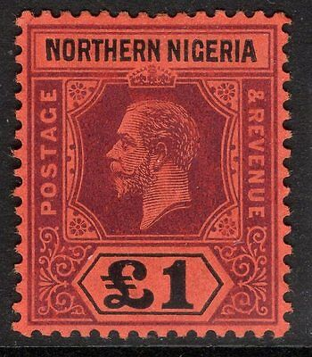 Northern Nigeria Sg52 1912 £1 Purple & Black/red Mtd Mint