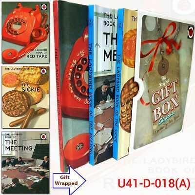 Jason Hazeley Red Tape Ladybirds for Grown-Ups 3 Books Collection Gift Wrapped