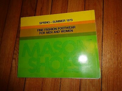 Spring Summer 1973 Mason Shoes Catalog Men Women Boots Vintage