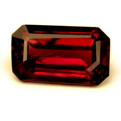 Certified Natural Royal Red Untreated Ruby, Emerald Cut & VS Clarity