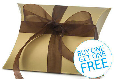 12x Gold Pillow Wedding Favour Gift Box 73x75mm **BUY 1 GET 1 FREE**