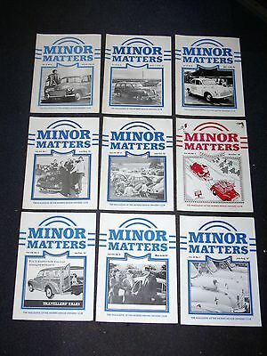 Minor Matters Morris Minor Owners Club Mmoc Magazine For Morris 1000 1982 - 1987