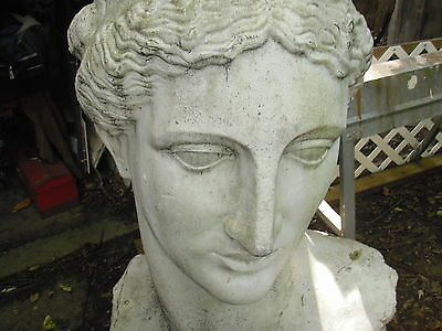 Vintage Lawn Art ---Greek Goddess Four Foot Tall
