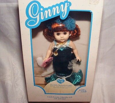 """Mint In Box 8"""" Ginny Our Little Mermaid Doll # 71-3060 Never Played With"""