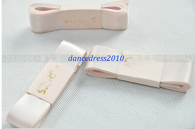 NEW Ladies Professional Satin Ballet Pointe Shoes Ribbon 2.4M Dance Accessories
