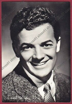 CORNEL WILDE 07b ATTORE ACTOR ACTEUR CINEMA MOVIE Cartolina FOTOGRAF VIAGG. 1961