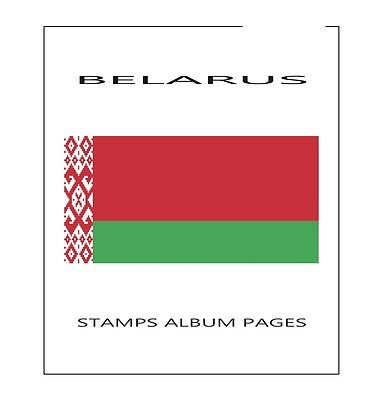 Stamps Album Pages Belarus 2015 - Complete Year Pdf Printable File