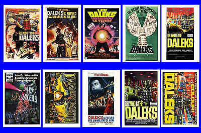 Dr Who - Movie Poster Postcards Set 1