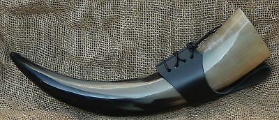400ml Viking drinking horn with free leather holster, lined so no funny taste!