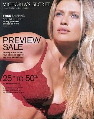 2000  Victoria's Secret Catalog Sexy Model Daniela Pestova Push-up Bra