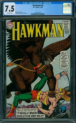 Hawkman 6 CGC 7.5 - OW Pages