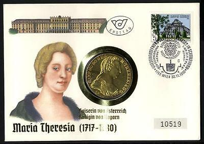 9209] Numisbrief Österreich 1990 Maria Theresia Taler SILBER Theresientaler