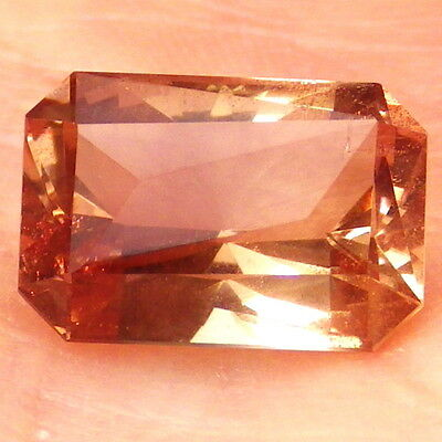 80% OFF  IMPERIAL SUNSTONE-OREGON 5.10Ct-AMAZING COLOR-FACETED IN EUROPE-READ!