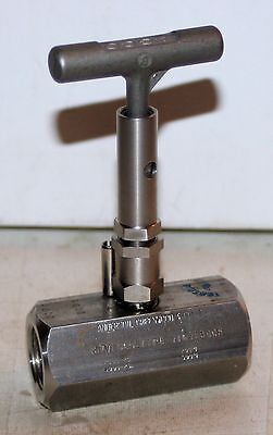 "3/4"" NPT SS Needle Valve (6000 PSI)  Tyco Anderson Greenwood H7VIS-6Q-LAT-PD"