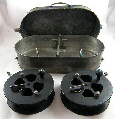 ANTIQUE MOVIE EDITING AND/OR SPLICING REELS - c.1930s