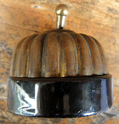 1920s Ceramic & Brass Light Switch....A Real One!