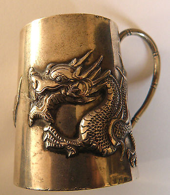Small Chinese Sterling Silver Mug By Wing Nam & Co