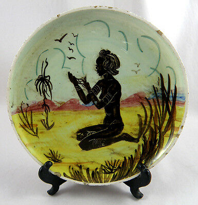 AUSSIE POTTERY:GUY BOYD: Hand Painted Plaque - 1955 - 1972