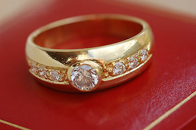 SUPERBE BAGUE JONC OR  18k /750 / DIAMANTS