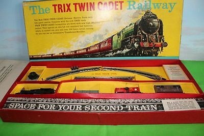 Trix Twin Railways Cadet Goods Train Set 224 Boxed With Catalogues 1950's