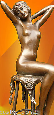 "SUPERB ART DECO, BRONZE, ""AWAKENING"" SIGNED D.H.Chiparus STATUE FIGURE SCULPTURE"