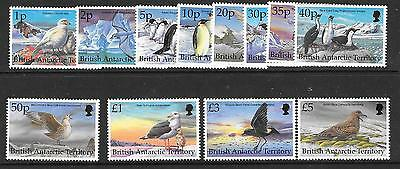 British Antarctic Terr. Sg290/301 1998 Birds  Mnh