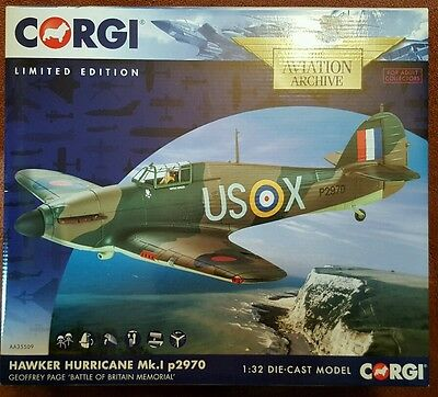 Corgi Aviation Hawker Hurricane Mk.I  Geoffrey Page Battle of Britain AA35509