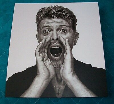 DAVID BOWIE promo QUALITY THICK CARD from SOTHEBY art auction B&W portrait photo