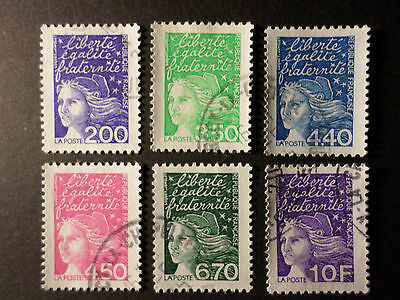 FRANCE 1997, LOT timbres types MARIANNE LUQUET, oblitérés, VF cancel STAMPS