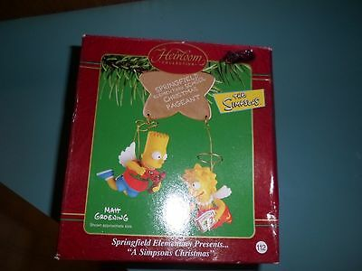 THE SIMPSONS CHRISTMAS ORNAMENT- BART LISA CHRISTMAS PAGEANT ANGELS 2002 in box