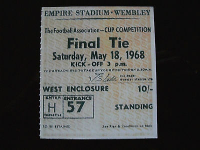 1968 F.A. Cup Final Ticket West Bromwich Albion v Everton mint condition.