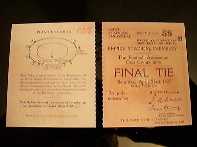 1927 F.A. Cup Final Ticket Cardiff City v Arsenal mint condition.