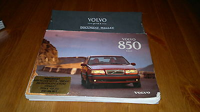 Volvo 850 owners manual set and wallet 1997