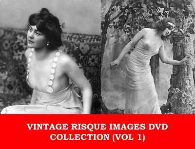 VINTAGE RISQUE BURLESQUE WOMEN PHOTOS DVD (1) French Girls Nude Pin Up Postcard