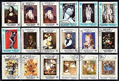 SOUTH ARABIA State of Upper Yafa Stamps Assorted Lot of 32