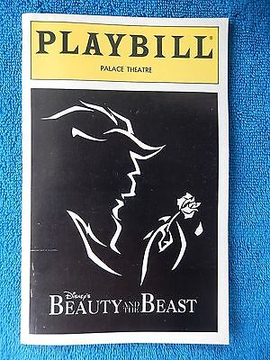 Beauty And The Beast - Palace Theatre Playbill w/Ticket - August 15th, 1998