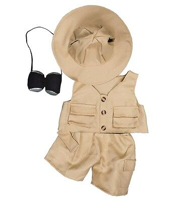 "Safari 4 piece outfit teddy clothes fit 15"" build a bear"
