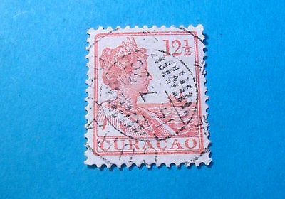 Curacao Stamp 1922 #66- Queen Wilhelmina*Used (Cur29)